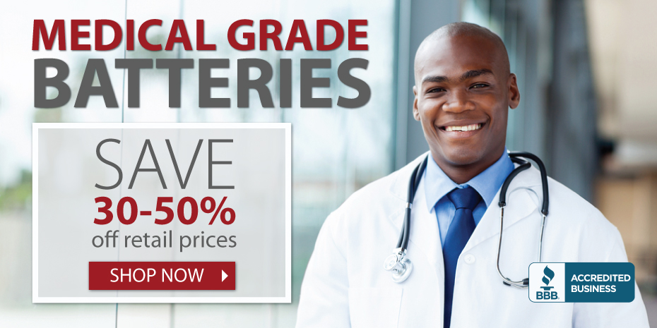 MedicBatteries.com supplies the best medical grade batteries available.